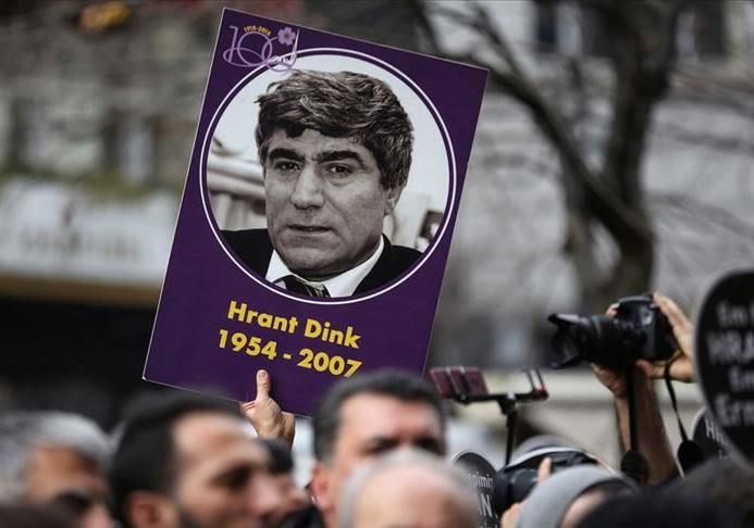 Резултат с изображение за Арменският журналист Хрант Динк е застрелян